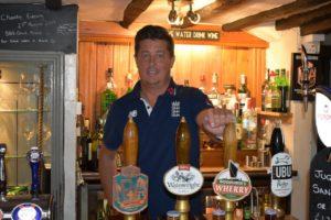 Terry Payne at the bar
