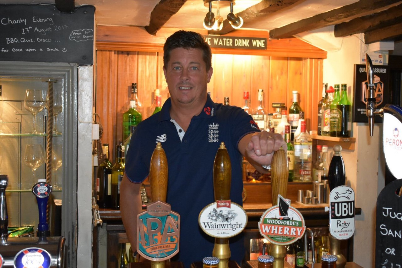 Terry Payne at the bar